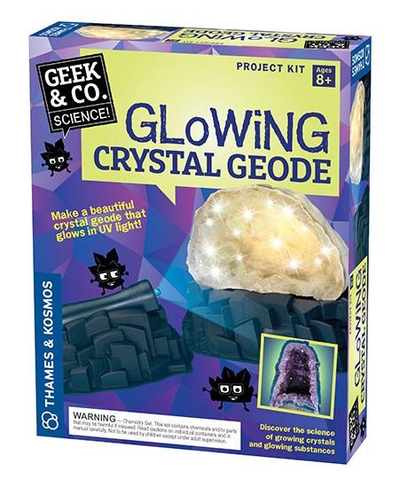 Geek & Co. Science mokslinis rinkinys Glowing Crystal Geode