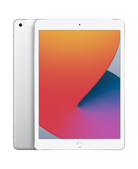 """Apple 8th Gen (2020) iPad Wi-Fi + Cellular 10.2 """", Silver, Retina touch screen with IPS, Apple A12 Bionic, 3 GB, 32 GB, 4G,"""