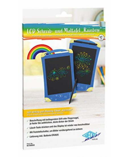 Rašymo ir piešimo lenta WEDO RAINBOW LCD, mėlynos spalvos