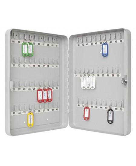 Dėžutė raktams WEDO, 70 raktų, pilka