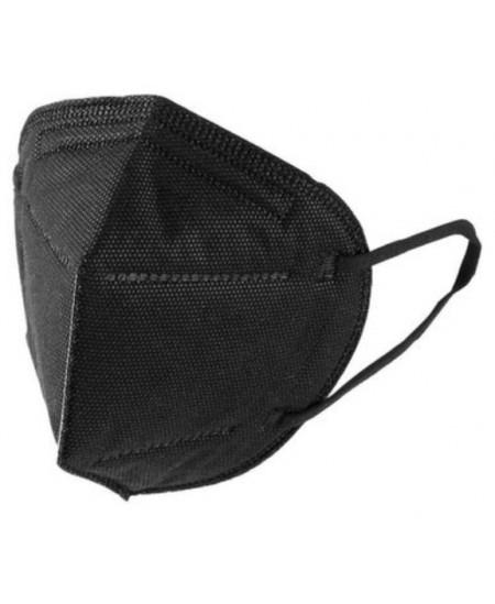 Veido kaukė (respiratorius) KN95/FFP2, 4 sluoksnių, juodos spalvos