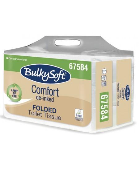 Tualetinis popierius servetėlėmis BULKYSOFT 67584, 250 lapelių, 1 pakelis