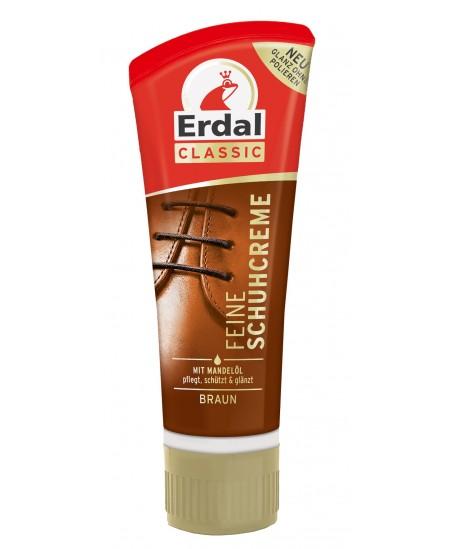 Batų kremas ERDAL, rudos spalvos, tūbelėje, 75 ml