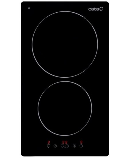 CATA Hob IB 3102 BK Induction, Number of burners/cooking zones 2, Touch control, Timer, Black