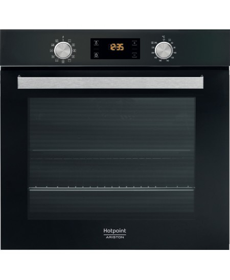 Hotpoint Oven FA5 841 JH BL HA 71 L, Electric, Hydrolytic, Knobs and electronic, Height 59.5 cm, Width 59.5 cm, Black