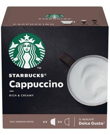 Kavos kapsulės  STARBUCKS Dolce Gusto Cappuccino