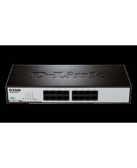 D-Link Switch DES-1016D Unmanaged, Desktop, 10/100 Mbps (RJ-45) ports quantity 16