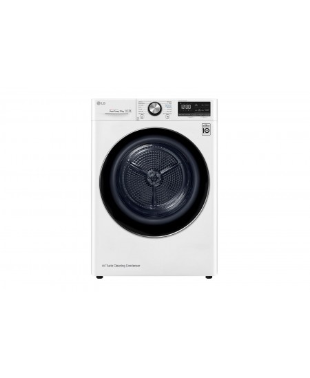 LG Dryer Machine RC90V9AV2Q Energy efficiency class A+++, Front loading, 9 kg, Heat pump, LED touch screen, Depth 69 cm, Wi-Fi,