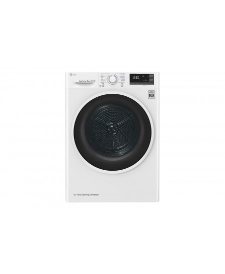 LG Dryer Machine RC80U2AV4Q Energy efficiency class A+++, Front loading, 8 kg, Heat pump, LED touch screen, Depth 69 cm, Wi-Fi,