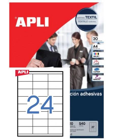 Etiketiniai lipdukai APLI  70x35 mmm, A4, 24 lipdukai lape, 100 lapų