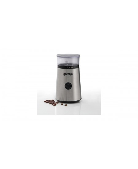 Gorenje Coffee grinder SMK150E 150 W, Coffee beans capacity 60 g, Lid safety switch, Stainless steel