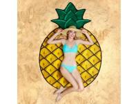 Paplūdimio kilimėlis-rankšluostis BIGMOUTH Ananasas, 175x122 cm