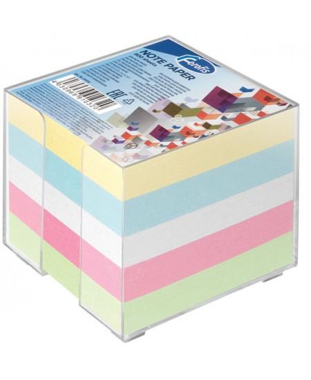 Lapeliai užrašams dėžutėje FOROFIS, 90x90 mm, spalvoti, 800 lapelių