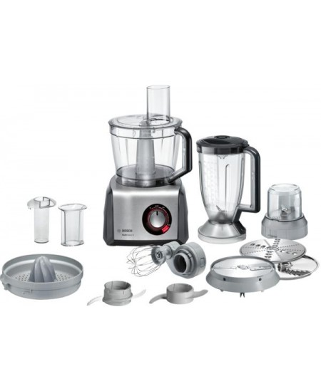 Bosch Food Processor MultiTalent 8 MC812M844  Black, 1250 W, Number of speeds Equal speed setting, instant and pulse functions,
