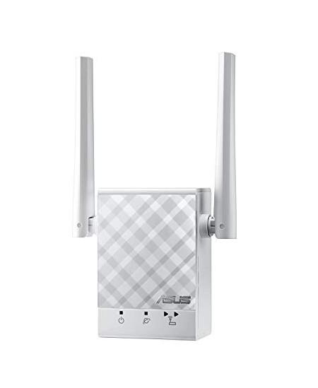 Asus Repeater RP-AC51 802.11ac, 2.4GHz/5GHz, 300+433 Mbit/s, 10/100 Mbit/s, Ethernet LAN (RJ-45) ports 1, Antenna type 2xExterna