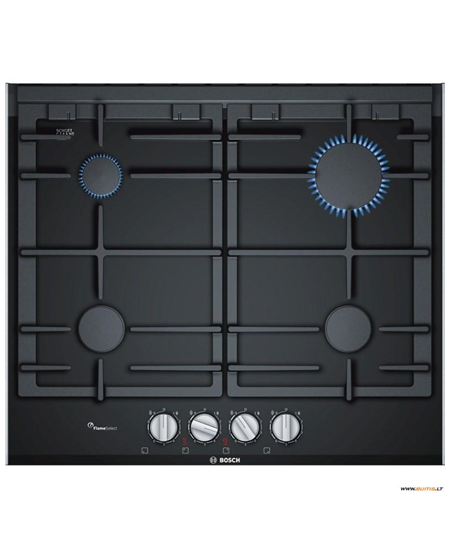 Bosch Hob PRP6A6D70 Gas on glass, Number of burners/cooking zones 4, Black,