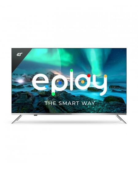 "Allview Smart TV 43ePlay6100-U LED TV, 43"" (109 cm), Android 9.0, 4K UHD, 3840x2160 pixels, Wi-Fi, DVB-T/T2/C, Silver/Black"