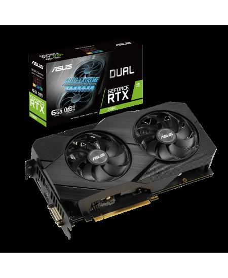 Asus DUAL-RTX2060-6G-EVO NVIDIA, 6 GB, GeForce RTX 2060, GDDR6, PCI Express 3.0, Processor frequency 1395 MHz, DVI-D ports quant