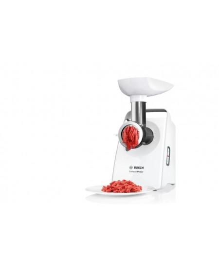 Bosch CompactPower Meat mincer MFW3X10B White, 500 W, Number of speeds 1, Throughput (kg/min) 2.5