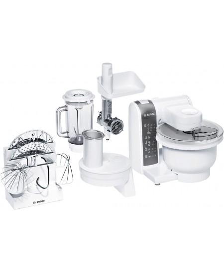 Bosch Kitchen Machine MUM4855 White, 600 W, Number of speeds 4, Blender, Meat mincer