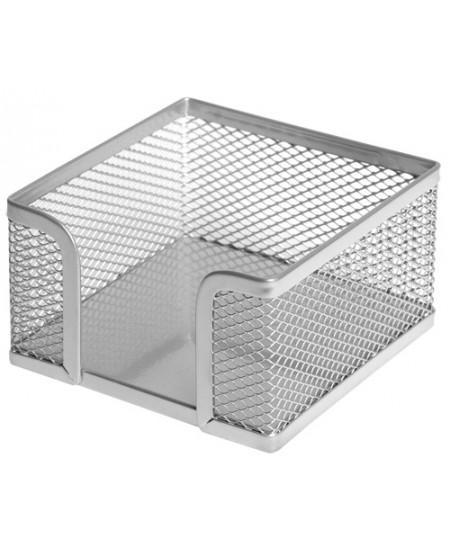 Dėžutė užrašų lapeliams FOROFIS, metalinė, sidabrinė