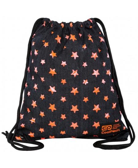 Maišelis sportinei aprangai COOLPACK Solo Orange Stars