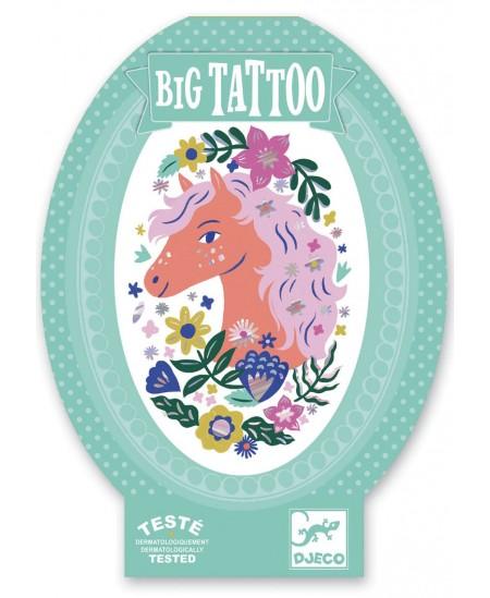 Didelė kūno tatuiruotė DJECO Poetiškas arkliukas