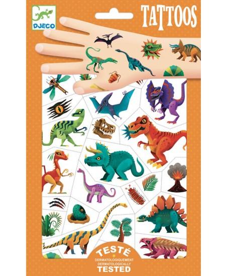 Kūno tatuiruočių rinkinys DJECO Dinozaurai