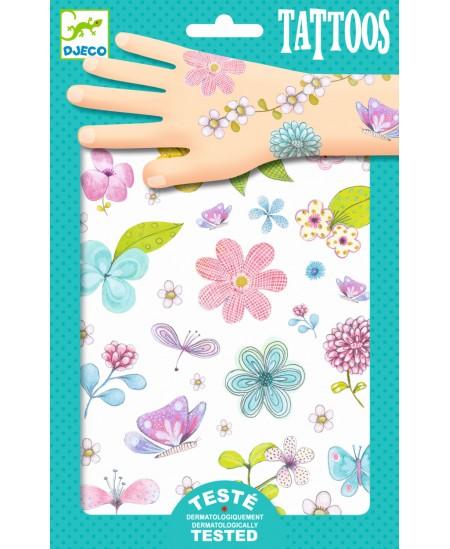 Kūno tatuiruočių rinkinys DJECO Laukų gėlės