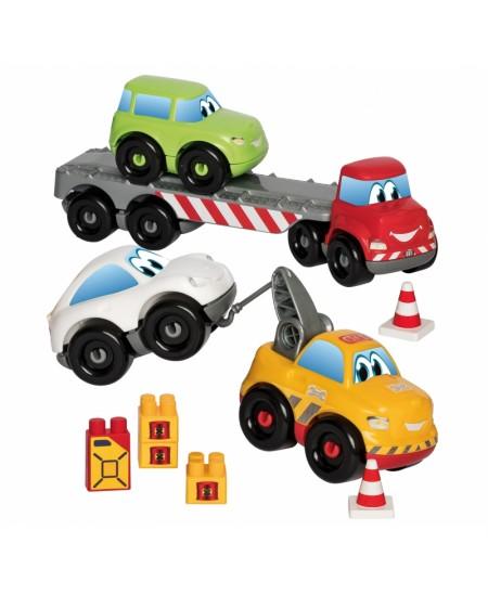 Vilkikas su trimis automobiliais ECOIFFIER Abrick