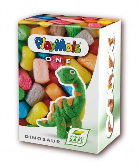 """Mozaika iš kukurūzų PLAYMAIS One \""""Dinozauras\"""", 80 detalių"""