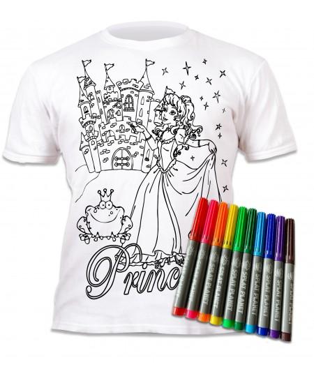 Spalvinami marškinėliai su flomasteriais  SPLAT Princesės, 3-4 m.