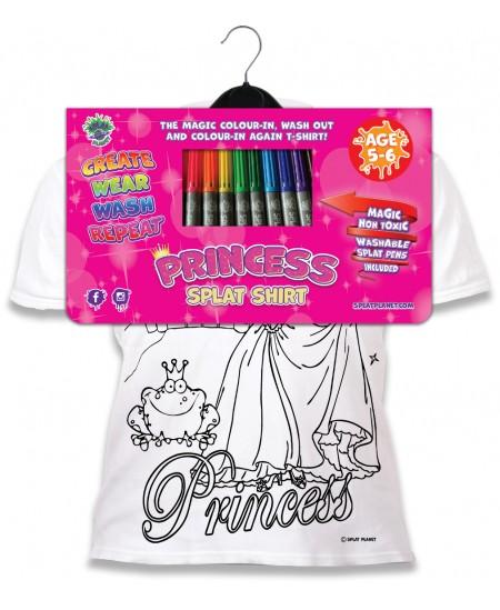 Spalvinami marškinėliai su flomasteriais  SPLAT Princesės, 9-11 m.