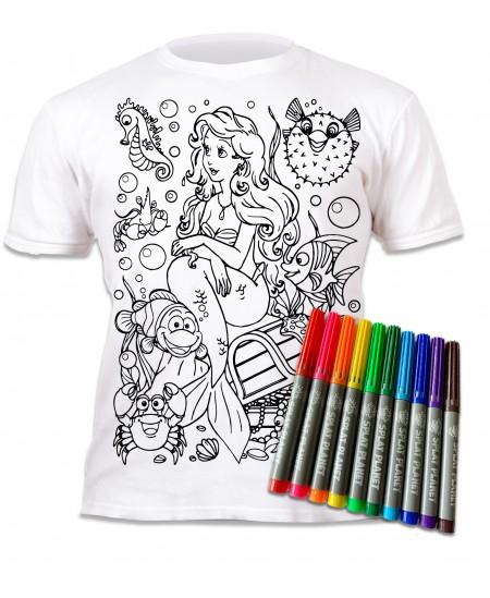 Spalvinami marškinėliai su flomasteriais  SPLAT Undinėlė, 3-4 m.