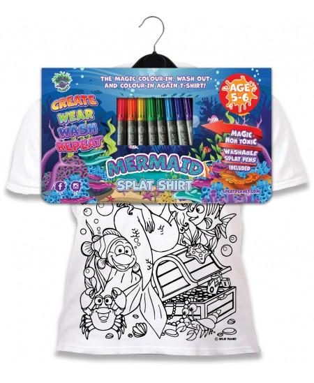 Spalvinami marškinėliai su flomasteriais  SPLAT Undinėlė, 7-8 m.