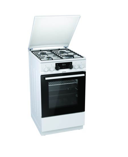 Gorenje Cooker K5341WH Hob type Gas, Oven type Electric, White, Width 50 cm, Electronic ignition, Grilling, 70 L, Depth 60 cm