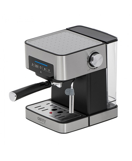 Camry Espresso and Cappuccino Coffee Machine CR 4410 Pump pressure 15 bar, Built-in milk frother, Drip, 850 W, Black/Stainless s