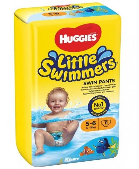 Sauskelnės maudynėms HUGGIES Little Swimmers, M, 12-18 kg