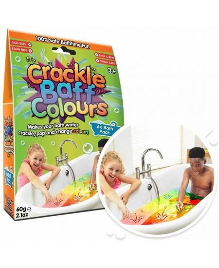 Šnypščiančių kristalų voniai rinkinys ZIMPLY KIDS Crackle, 6 spalvos