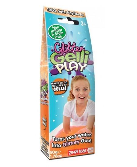 Milteliai šlykštukų gamybai ZIMPLY KIDS Glitter, oranžinė, 50 g