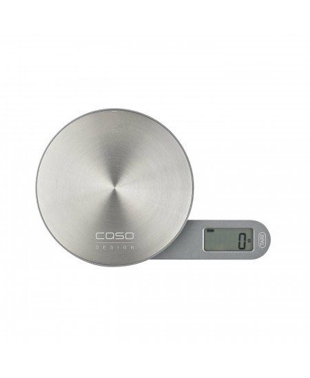 Caso Scales Kitchen EcoMate Batteryless usage, Graduation 1 g, Maximum weight (capacity) 5 kg, Display type LCD, Stainless steel