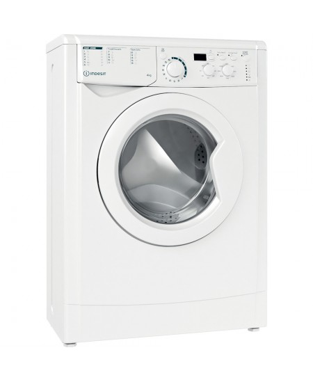 INDESIT Washing machine EWUD 41051 W EU N Energy efficiency class F, Front loading, Washing capacity 4 kg, 1100 RPM, Depth 32.3