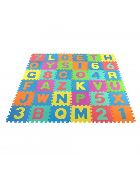 Minkštas kilimėlis - dėlionė, 29x29cm 36vnt.