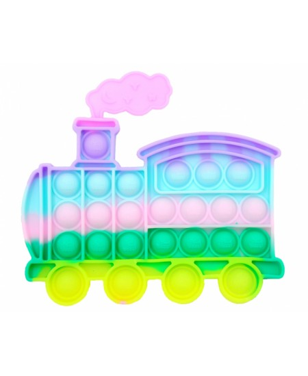 Antistresinis suvenyras POP IT Švelnių spalvų traukinys