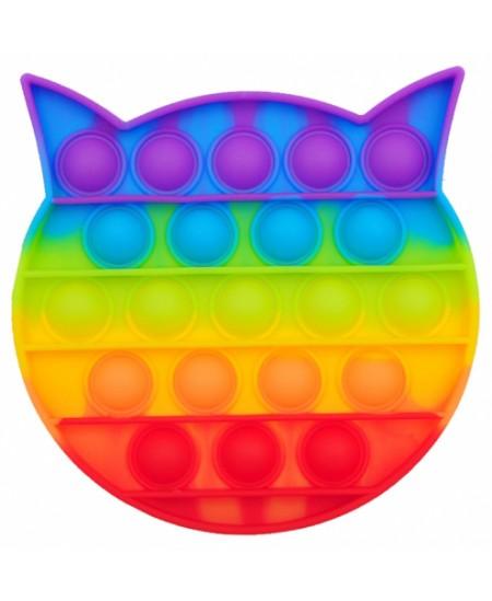 Antistresinis suvenyras POP IT Vaivorykštinis katinas