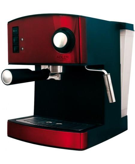 Adler AD 4404 r Pump pressure 15 bar, Semi-automatic, 850  W, Red