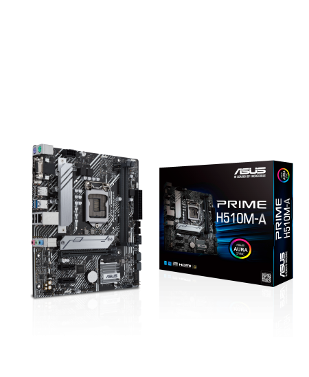 Asus PRIME H510M-A Processor family Intel, Processor socket LGA1200, DDR4, Memory slots 1, Supported hard disk drive interfaces
