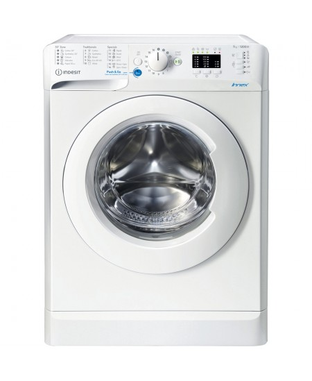 INDESIT Washing machine BWSA 71251 W EE N Energy efficiency class E, Front loading, Washing capacity 7 kg, 1200 RPM, Depth 43.5