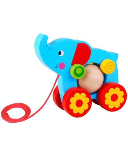 Medinis traukiamas žaisliukas TOOKY TOYS Drambliukas