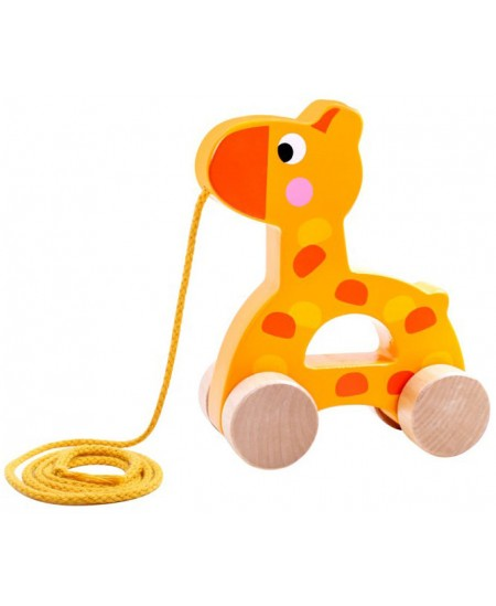 Medinis traukiamas žaisliukas TOOKY TOYS Žirafa